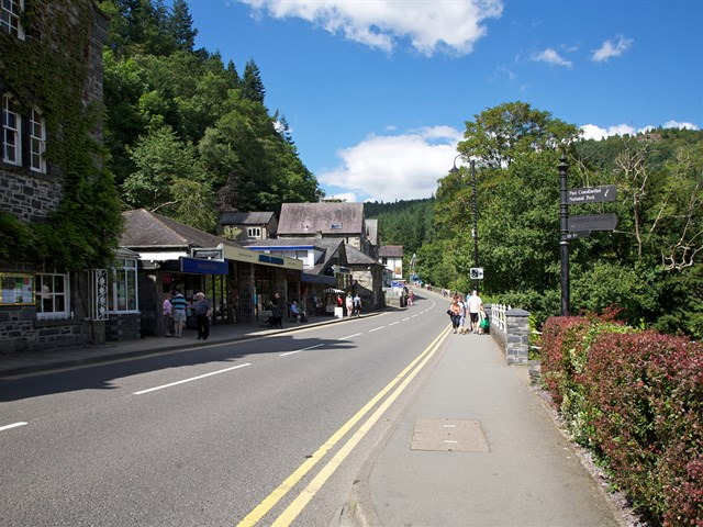 Betws-y-Coed village centre
